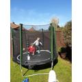 Matus has a break on the trampoline