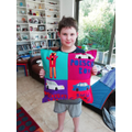 Beren designed and made his own cushion