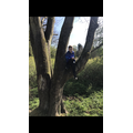 Zak plays outdoors
