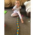 Melisa enjoyed making her own patterns