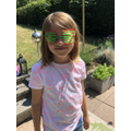 Phoebe Mae made shades from 3d pens!