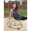 Goldsworthy inspired art by Katie