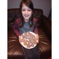 Yasemen bakes purple lemon heart biscuits