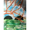 Sara's Hockney Art