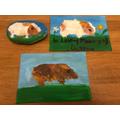 Hannah's guinea pig paintings