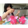 Rei made her own piggy bank