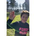 Alfie does a run