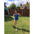 Katie worked hard on Virtual Sports Day
