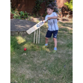 William has enjoyed playing cricket