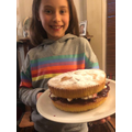 Mia bakes a beautiful Victoria Sandwich cake