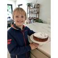 Theo's tempting cake