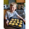 Matus bakes cupcakes so everyone smiles