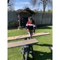 Aila does DIY gardening