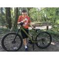 Joshua takes a bike ride