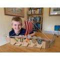 Robin made an amazing Viking longship