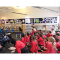 A talk in the library