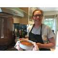 Mrs Roberts has been baking banana cake