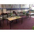 Back to school - Muhammad Huzaifa and Callum doing maths.jpg