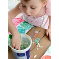 mix the food colouring with the yogurt