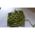 Mrs Cross has nearly mastered crochet