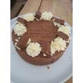 Miss Allen's amazing cheese cake for her mum's birthday..jpg