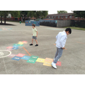 Cody and Sultan using the new playground markings..jpg