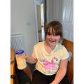 Making butter - shake the cream