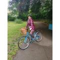 Miss MacDonald's bike ride