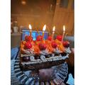 Miss MacDonald's birthday cake.