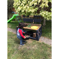 Mrs Parveen built Luay his mud kitchen