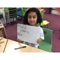 Sara's excellent maths!