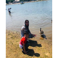 Ayyan went on a family walk to visit the ducks