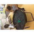 Asmaa & Qasim enjoyed making sounds