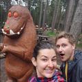 Miss MacDonald and Chris met the Gruffalo