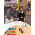 Mrs Gill is a nursery teacher for the first time..JPG