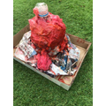 Mrs Iqbal made a volcano with her duaghter.jpg