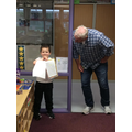 Callum showing Mr Daintith his wonderful writing..jpg