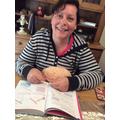 Mrs Ferguson trying to learn to crochet..jpg