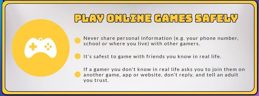 Play online games safely