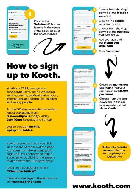 How do I access Kooth?
