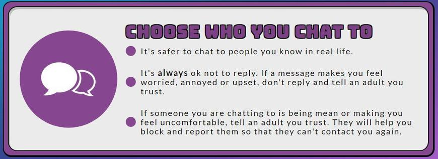 Choose who you chat to