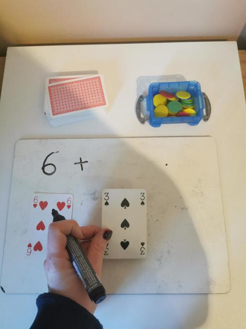 Then i chose a second card. (I got a 3)