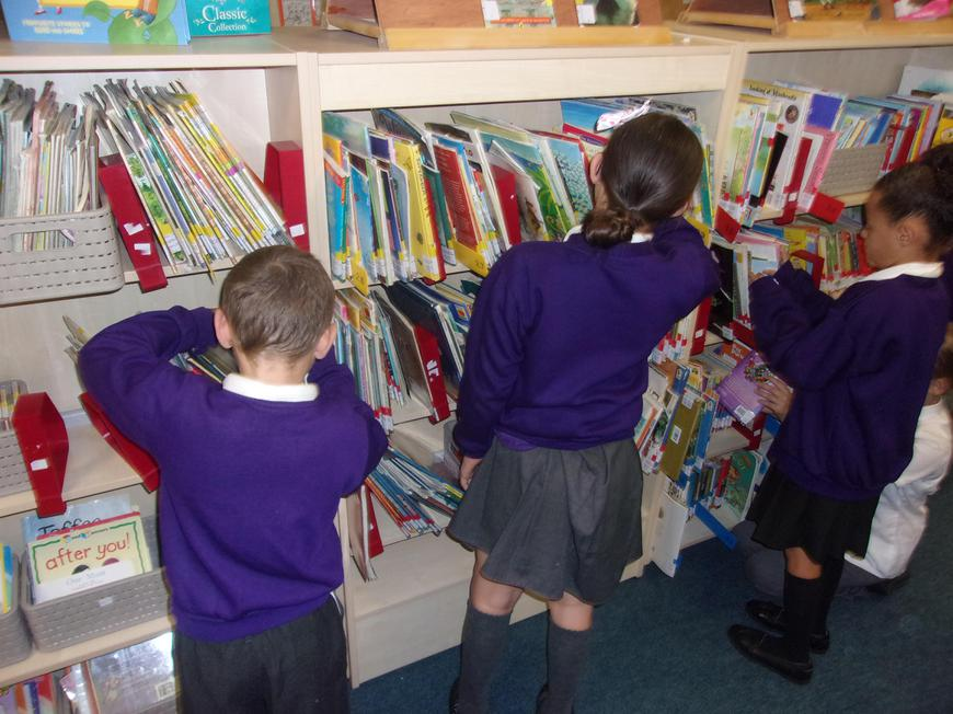 We visited the school library to select our books.