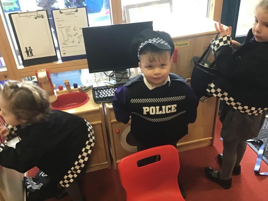 """I am a Policeman, I got the bad guys."""