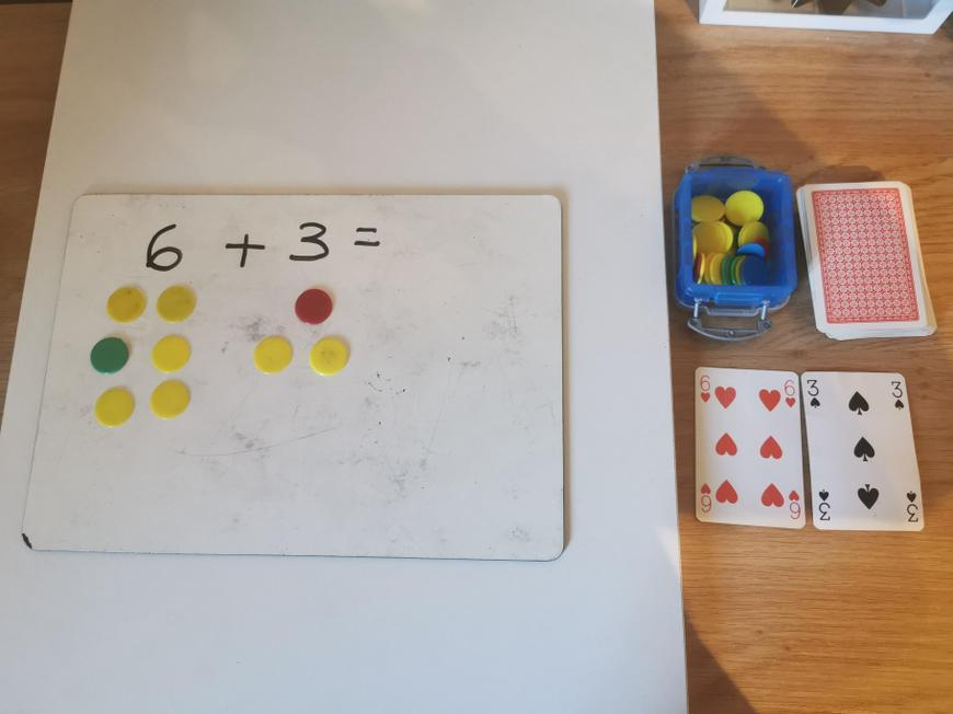 I used counters to help me.