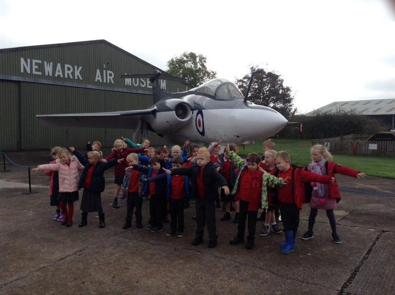 Y1&2 learning about aviation @Newark Air Museum