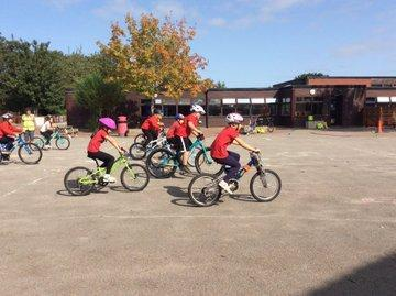 Class 3 enjoying cycle training