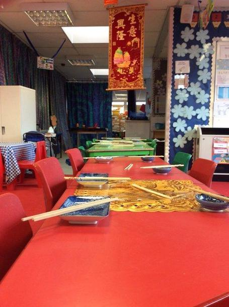 Setting the table for Chinese New Year in F