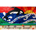 Our plastic pollution awareness mural
