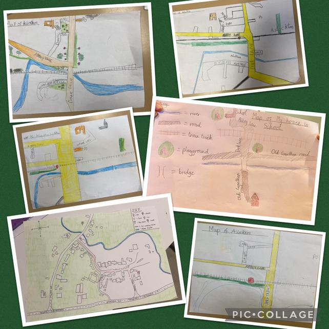 Drawing simple sketch maps of our local areas